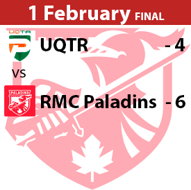 UQTR vs RMC Paladins Game Result Game 1 February 2020 Won